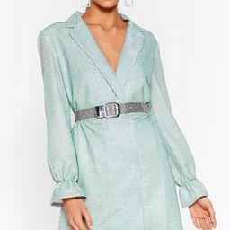 We Don't Have Shine Metallic Blazer Dress | NastyGal (US & CA)
