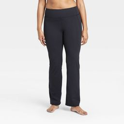 Women's Contour Power Waist Mid-Rise Straight Leg Pants - All in Motion™ | Target