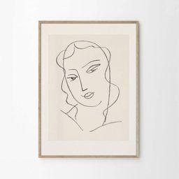 Abstract Face Art Print | Etsy (US)