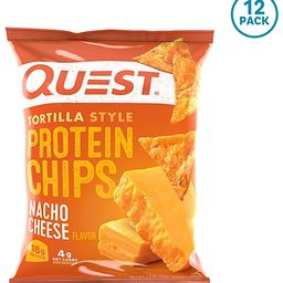Quest Nutrition Tortilla Style Protein Chips, Nacho Cheese, Low Carb, Gluten Free, Baked, 1.1 Oun...   Amazon (US)