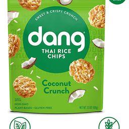 DANG Sticky Rice Chips   Coconut Crunch   4 Pack   Vegan, Gluten Free, Non Gmo Rice Crisps, Healt...   Amazon (US)