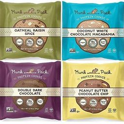 Munk Pack Protein Cookie Variety 2.96 oz - All 4 Flavors 1 of each (4 Pack)   Amazon (US)