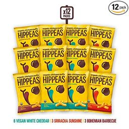 HIPPEAS Organic Chickpea Puffs + Variety Pack   1.5 ounce, 12 count   Vegan, Gluten-Free, Crunchy...   Amazon (US)
