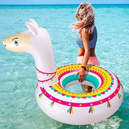 Llama Pool Float Ride On Party Toys Alpaca Inflatable Swimming Ring Fiesta Water Supplies - for A... | Amazon (US)