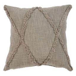 """Carlton Café au Lait Indoor Throw Pillow Taupe 20""""x20"""" Indoor Square Hand - Crafted   Walmart (US)"""
