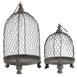 A&B Home Phineas Hanging Wire Mesh Candle Holders, Set of 2, 13-Inch and 9-Inch   Walmart (US)