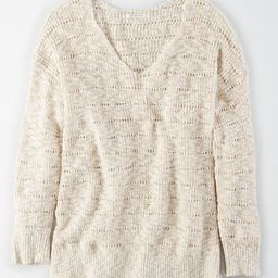 AE Oversized V-Neck Sweater | American Eagle Outfitters (US & CA)