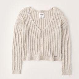 Boxy V-Neck Sweater | Abercrombie & Fitch US & UK