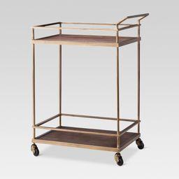 Wood & Brass Finish Bar Cart - Threshold , Gold   Target