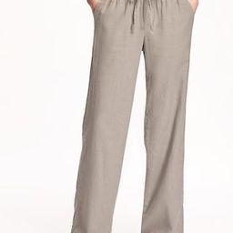 Mid-Rise Linen-Blend Pants for Women   Old Navy (US)
