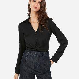 Slim Ruffle Covered Button Portofino Shirt | Express