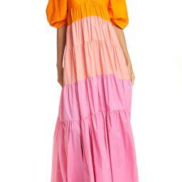 Women's Staud Meadow Colorblock Tiered Maxi Dress   Nordstrom