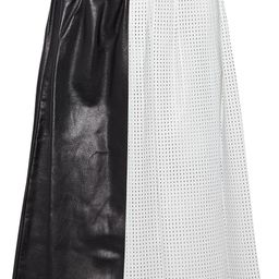 Multicolor Pleated smooth and perforated  leather skirt | Sale up to 70% off | THE OUTNET | PROEN... | The Outnet (US and CA)