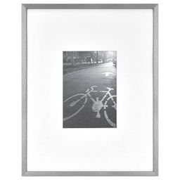 """11"""" x 14"""" Matted For 5"""" x 7"""" Thin Gallery Frame Silver - Project 62™ 