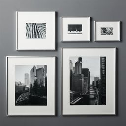 Gallery Brushed Silver 11x14 Picture FrameCB2 Exclusive In stock and ready to ship.ZIP Code 75201... | CB2