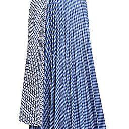 Pinstripe Pleated Midi Skirt | Saks Fifth Avenue