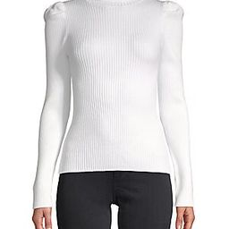 Ribbed Puff-Sleeve Sweater | Saks Fifth Avenue OFF 5TH