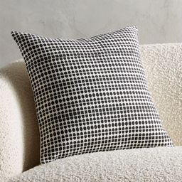 """18"""" Pentagrid Block Print Black PillowCB2 Exclusive In stock and ready to ship.ZIP Code 75201Chan... 