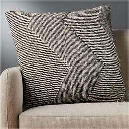 """23"""" Bias Pillow with Feather-Down InsertCB2 Exclusive In stock and ready to ship.ZIP Code 75201Ch... 