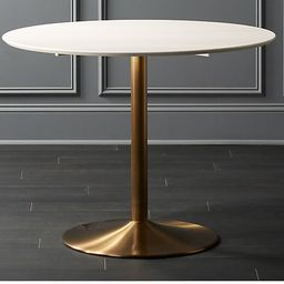 Odyssey Brass Dining TableCB2 Exclusive  | In stock and ready for delivery to ZIP code  75201 Cha... | CB2