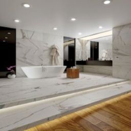 "Calacatta Royal 18"" x 36"" Porcelain Field Tile in White/Gray | Wayfair North America"