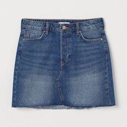 H & M - Short Denim Skirt - Blue | H&M (US)