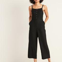 Square-Neck Linen-Blend Cami Jumpsuit for Women   Old Navy (US)