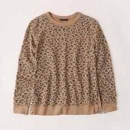 Side-Snap Crewneck Sweatshirt | Abercrombie & Fitch US & UK