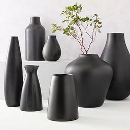 Pure Black Ceramic Vases | West Elm (US)