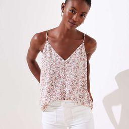 Floral Covered Button Strappy Cami | LOFT | LOFT