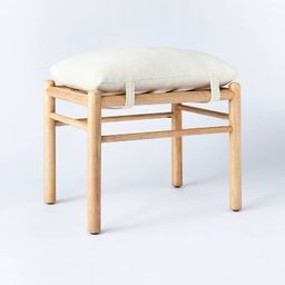 Wooden Upholstered Ottoman with Straps - Threshold designed with Studio McGee   Target