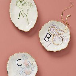 Botanical Monogram Trinket Dish   Anthropologie (US)