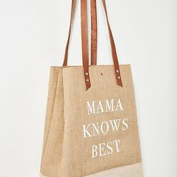 Mama Knows Best Jute Wine Tote   Anthropologie (US)