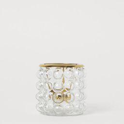 Textured tealight holder | H&M (UK, IE, MY, IN, SG, PH, TW, HK, KR)