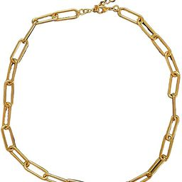 Gold Chain Necklace for Women 14kt Gold Plated Trendy Choker Link Chain Necklace Perfect for Laye... | Amazon (US)