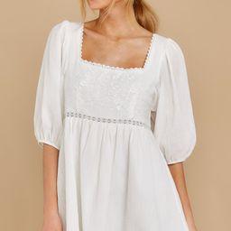 Calling Dibs White Dress | Red Dress