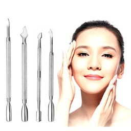 Pinkiou 4Pcs Nail Cuticle Pusher with Spoon Double End Nail Cuticle Remover Tool Stainless Steel ...   Walmart (US)