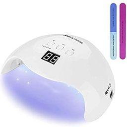 Gel UV LED Nail Lamp NAVANINO 48W Nail Dryer, Infrared Sensor, LCD Display, Professional Nail Art...   Amazon (US)