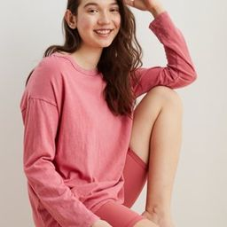 Aerie Boyfriend Oversized Long Sleeve T-Shirt | American Eagle Outfitters (US & CA)