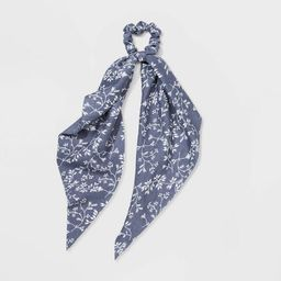 Chiffon Fabric Twister with Floral Print & Tails Hair Elastics - Universal Thread™ | Target