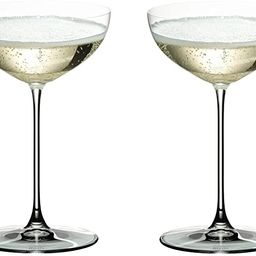 Riedel 6449/09 Veritas Coupe Glasses, Set of 2, Clear | Amazon (US)