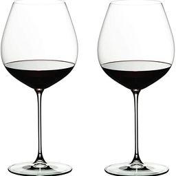 Riedel 6449/07 Veritas Pinot Noir Wine Glasses, Set of 2, Clear | Amazon (US)