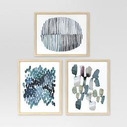 Framed Watercolor Blue Abstracts 16 x 20 3pk - Project 62™ | Target