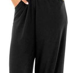 Womens Casual Loose Sleeveless Spaghetti Strap Wide Leg Pants Jumpsuit Rompers | Amazon (US)