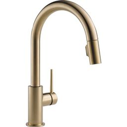 Delta 9159-CZLS-DST Champagne Bronze Trinsic Single Handle Pull-Down Kitchen Faucet with Limited ... | Build.com, Inc.