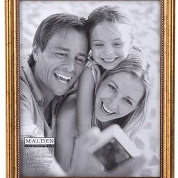 Malden International Designs Classic Wood Picture Frame, 8x10, Gold | Amazon (US)