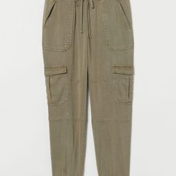 H & M - Lyocell Utility Joggers - Green   H&M (US)
