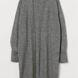 H & M - Long Cardigan - Gray   H&M (US)