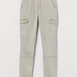 H & M - Slim Fit Cargo Pants - Beige   H&M (US)