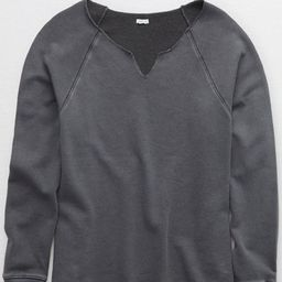 Aerie V Oversized Sweatshirt Women's Smoked Gray XL   American Eagle Outfitters (US & CA)